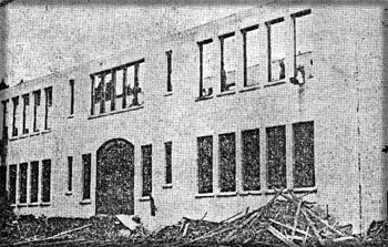 October 25, 1959. The tearing down of original school buitl in 1925.