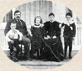 Davis Martin (small boy), Elijah Franklin, Rose Eleanor, Moniga Hardiman, and Alfred Franklin McDonald