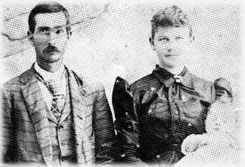 James A. Taylor, wife Olivia Vena Gaines, and baby Mayme Louise.