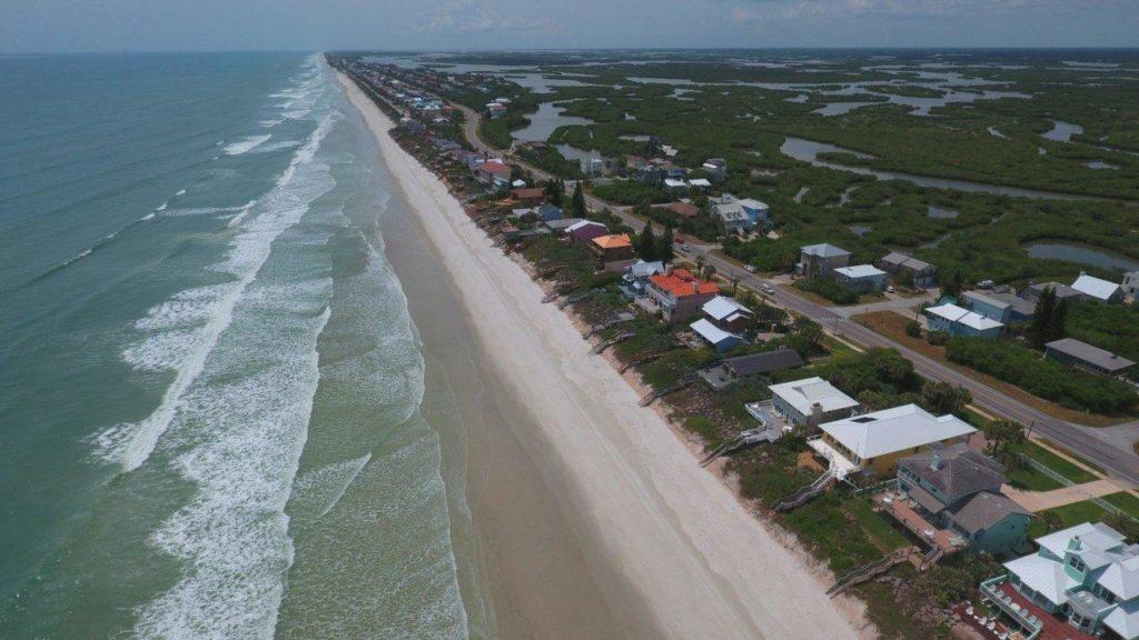 NSB Aerial of south beach homes