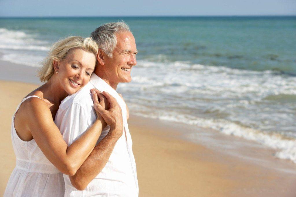 Older Couple on the beach