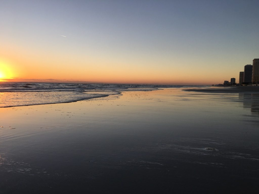 sunrise at the beach in Daytona