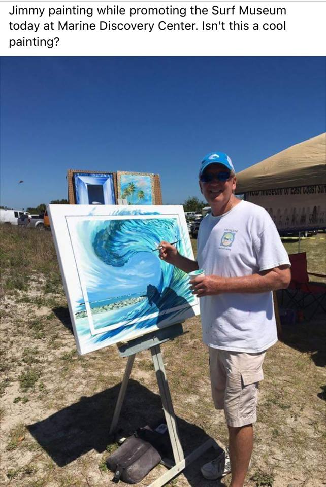 Surf Art by Jimmy Lane local NSB artist